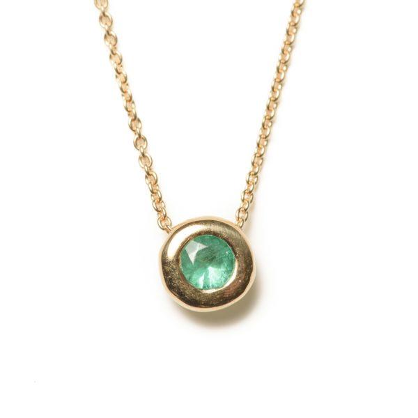 Collier mit Smaragd-Durchzieher